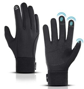 leather thin snow gloves