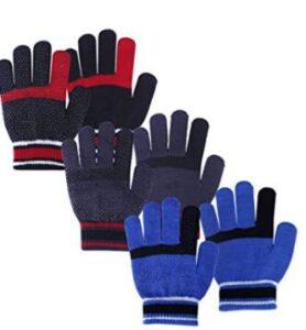 4 pack thin winter gloves for children
