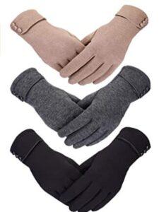 super warm thin gloves for women