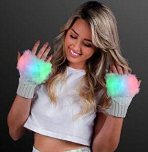 warm illuminated led light up gloves