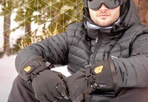 warming heated ski gloves
