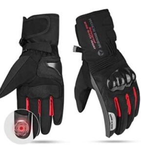 waterproof motorcycle gloves with sensitive touch-screen design on the second finger