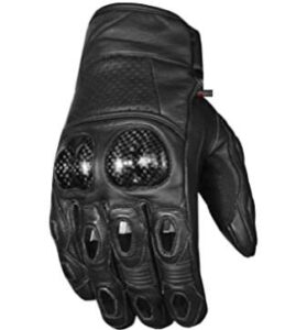 cowhide leather adventure motorcycle gloves