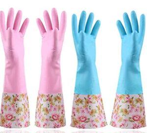 long dishwashing gloves