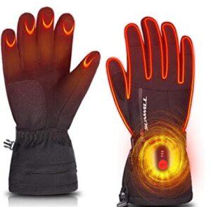 heated ski gloves mens