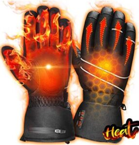 unisex heated ski gloves