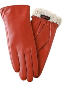insulated leather driving gloves