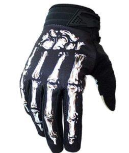 skeleton motorcycle gloves