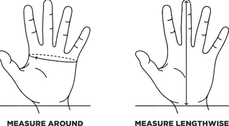 how to measure hand length for gloves