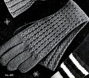 knitting pattern for gloves used in winter