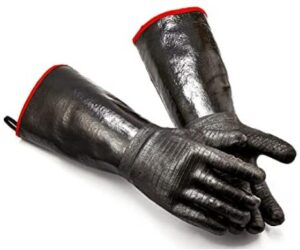 heat resistant bbq gloves with long wrist protection