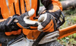 chainsaw gloves with cut protection