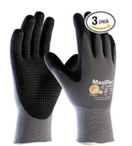 nylon and nitrile gloves with good vent for cashier