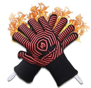 heat resistant oven gloves with fingers