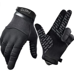 black tactical gloves for shooting in cold days